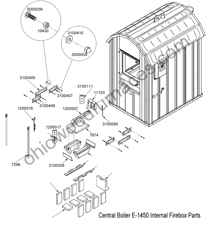 hardy wood furnace parts
