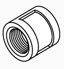 "Brass Coupling 3/4"" x 3/4"" Threaded"