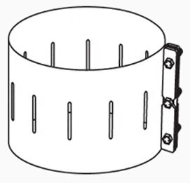 "6"" Chimney Band Clamp Kit"