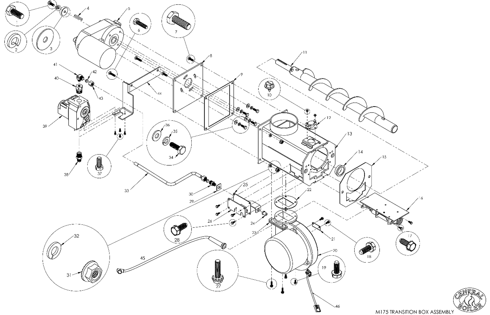 M175 Assembled Transition Box