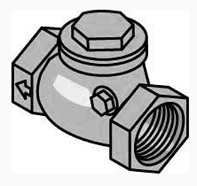1-1/4″ Brass Swing Check Valve