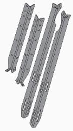 Chimney Support Brace Kit, CL 4030, 5036, 6048