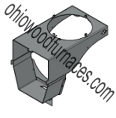 Chimney Tee Support, Black, Classic 4030/5036/6048