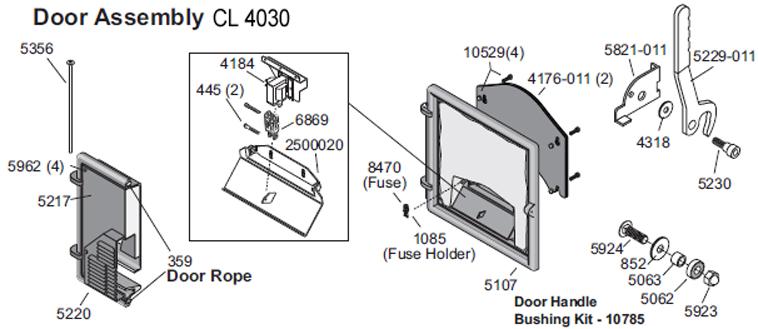 CL 4030, Door Handle Shoulder Bolt
