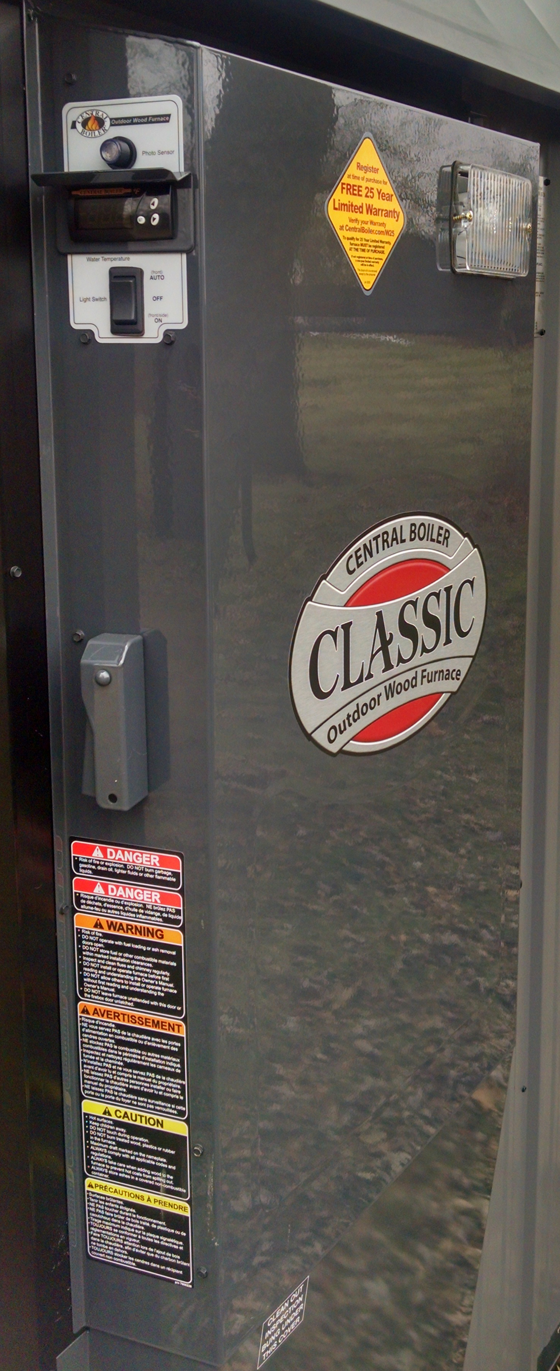 Classic Side Pump Panel Door With Decals, No Controls