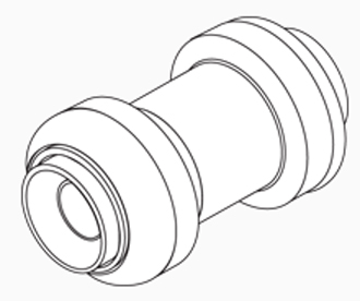 "Straight Push Coupling 1"" x 1"""