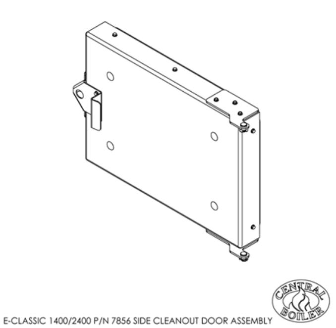 E Classic Side Cleanout Door, Broze, Assembled, 1400/2400