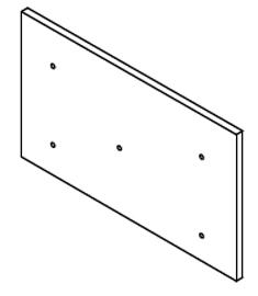 E-Classic 1400 2400 Side Door Cleanout Refractory, 1X15.1X10.3