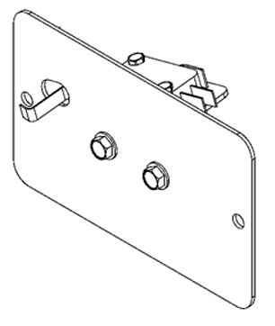 E Classic Door Switch, Terra Brown, Assembled