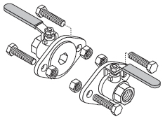 Isolation Flange Kit 1-1/4″ Threads