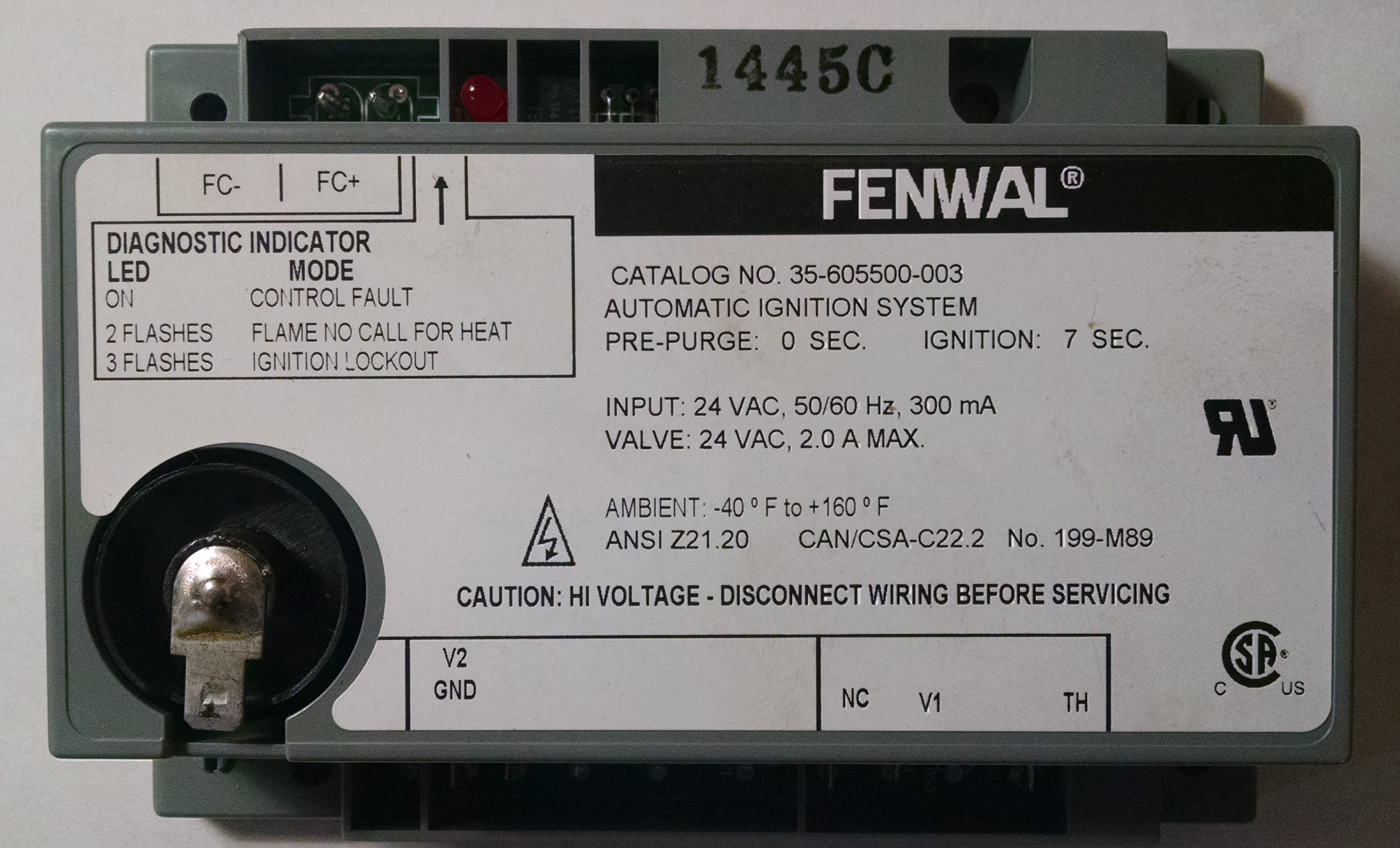 Fenwal Gas Ignition Module For Classic Burners
