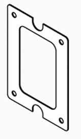 "Inspection Window Gasket, Cover, 1/8"",M250,M255"