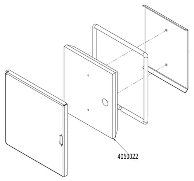 "M250/ M255, Insulated Door Insert, 13""X15""X2"""
