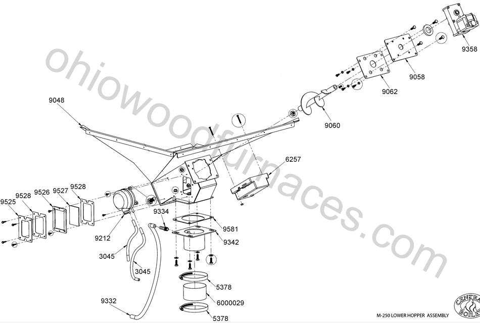 Weld, Drop Tube, Plate, Lower Hopper, M250, M255