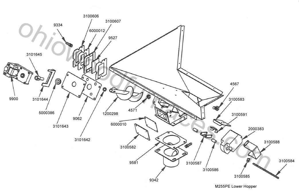 "GASKET,MOTOR PLATE,LWR HOP,1/8"",M250/255"