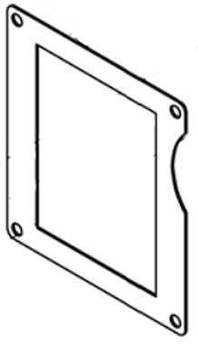 M250, M255, Rear Transition Box Gasket