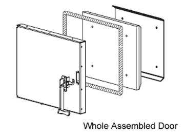 Maxim Firebox Door, Assembled, BTL Green, M250GN/255GN