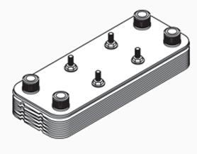 """PLate Heat Exchanger, 10X20-55, 1-1/4""""PORT"""