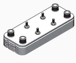 Plate Heat Exchanger (100k-175k Btu)