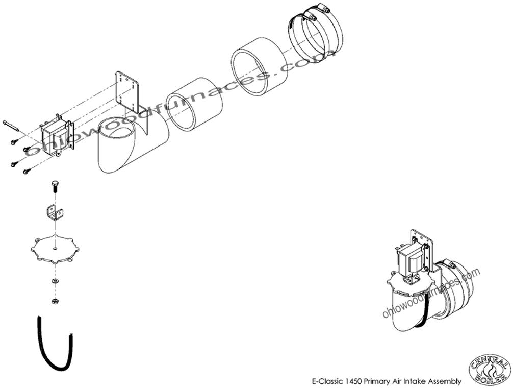 "E-Classic 1450 Primary Air Intake, Assembled, 5/16""ADJ"