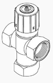 "Radiant Mixing Valve, 3/4"" Threaded"
