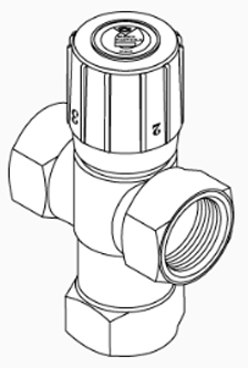 "Radiant Mixing Valve, 1/2"" Threaded"
