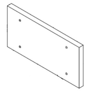 Reaction Door Refractory, CE 750, 1X18.38X10.5
