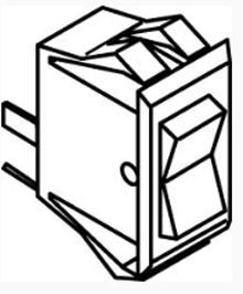 Rocker Switch, ON-OFF, CL(E)/PB(E)/ECL(E)