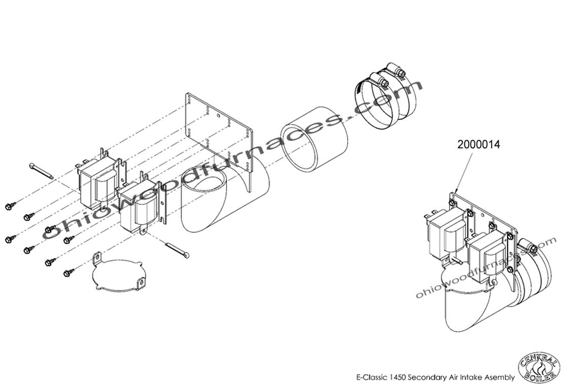 "Secondary Air Intake, Assembled, 9/16"" ADJ, E-Classic 1450"