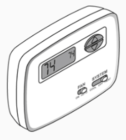 Single Stage, Non Programmable 24 Volt Thermostat