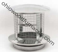 "6"" Chimney Cap, Spark Arrestor, Stainless Steel"