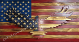 American Flag with 3D Eagle