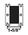 Solenoid 1-5/8″ center-to-center bracket hole