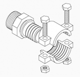 Pex Brass Clamp Fittings, 1″
