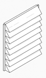 Louvers for 220K Heat Exchanger