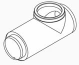 Stainless Steel Chimney Tee, W/Rope Rings, 750/3250/3200