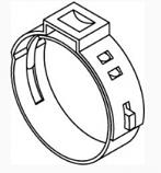 "PEX 1"" Stainless Steel Clamp Crimp Ring"
