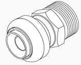 "Straight Male Push Adapter 3/4"" x 3/4"" MNPT"