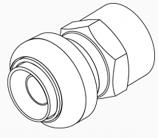"Female Push Adapter 1"" x 1"" FNPT"