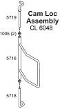 Upper Door Hook, ZY, 6048/7260/Pallet Burner(E)