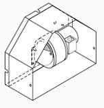 Kit, Draft Inducer, Recessed Cast Door, Ripple Front Door