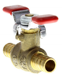 "Pex Full Port Ball Valve, 1/2"" PEX"