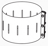 "6"" Chimney Band Clamp Kit"